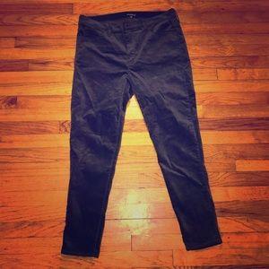 J.Crew Factory Charcoal Velvet Skinny Jeans sz 33